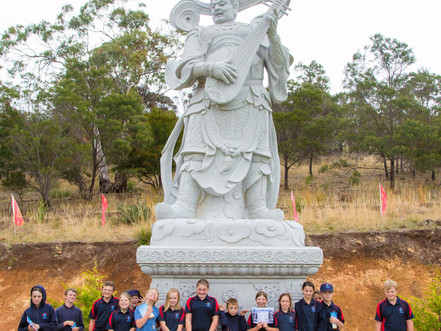 Gr5/6 from Campania District School visits Guardian Lions and Heavenly Devas