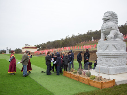 Students from Campania District School's excursion to Stone Lions & Great Heavenly Devas