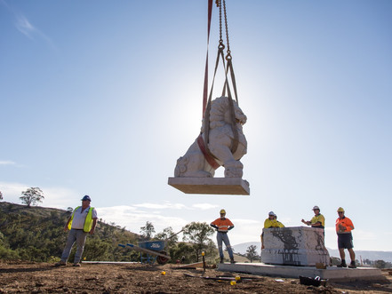 六尊石像――澳大利亞塔州中國文化公園
