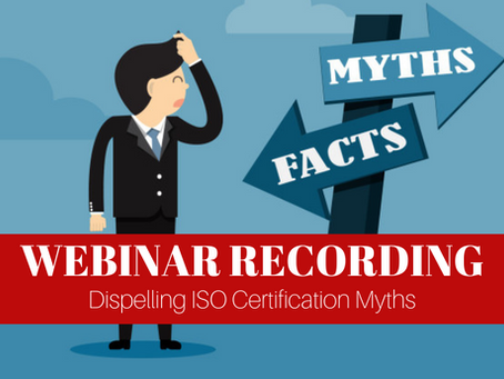 Dispelling ISO Certification Myths With Mango - Webinar Recording