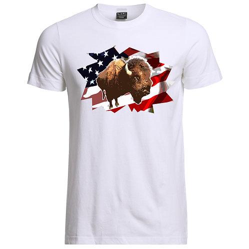 Buffalo/Flag Shirt