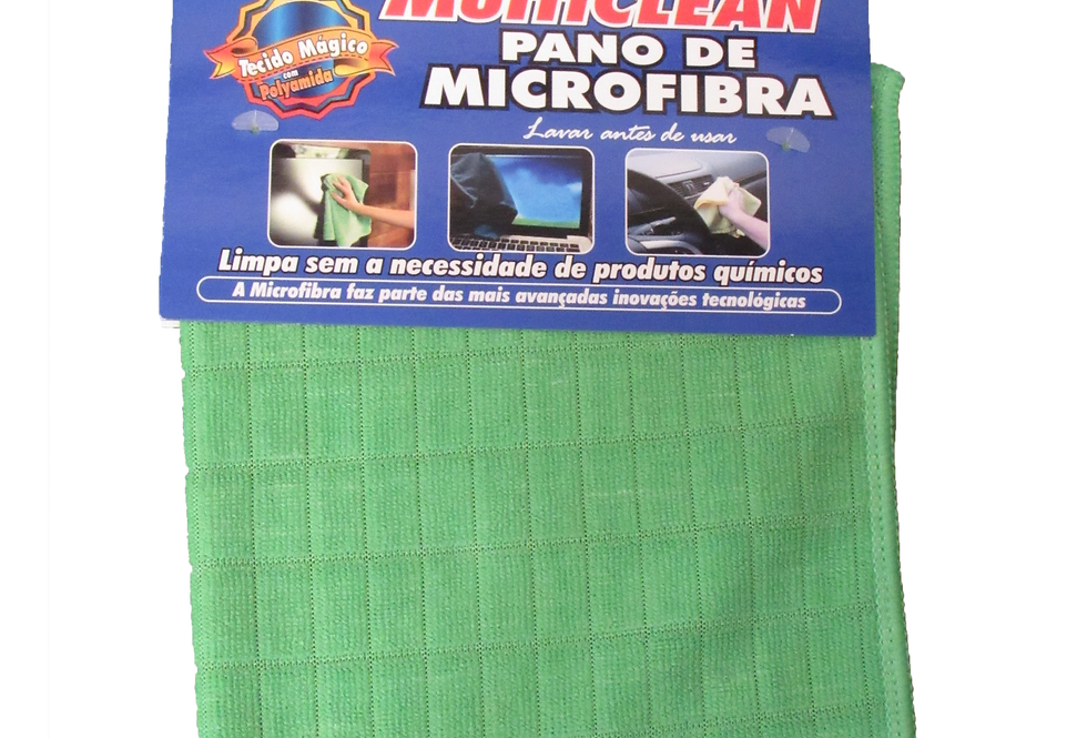 Pano de Microfibra Verde- 28cmX38cm