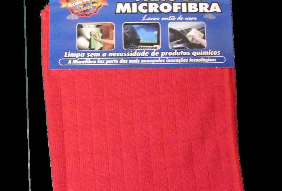 Pano de Microfibra Vermelho - 28cmX38cm