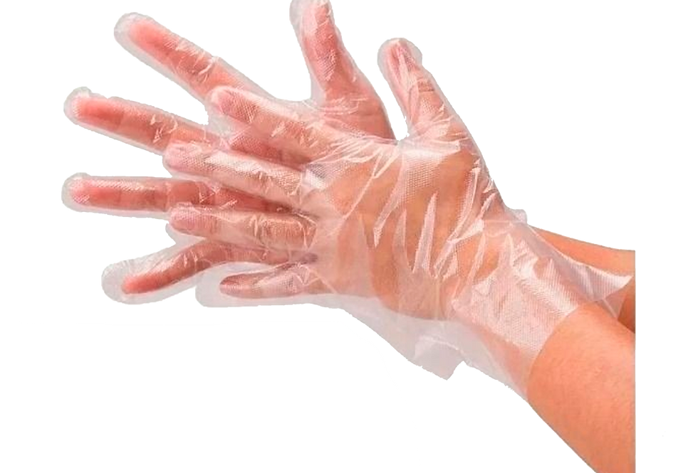 Luva Polietileno Lisa Transparente