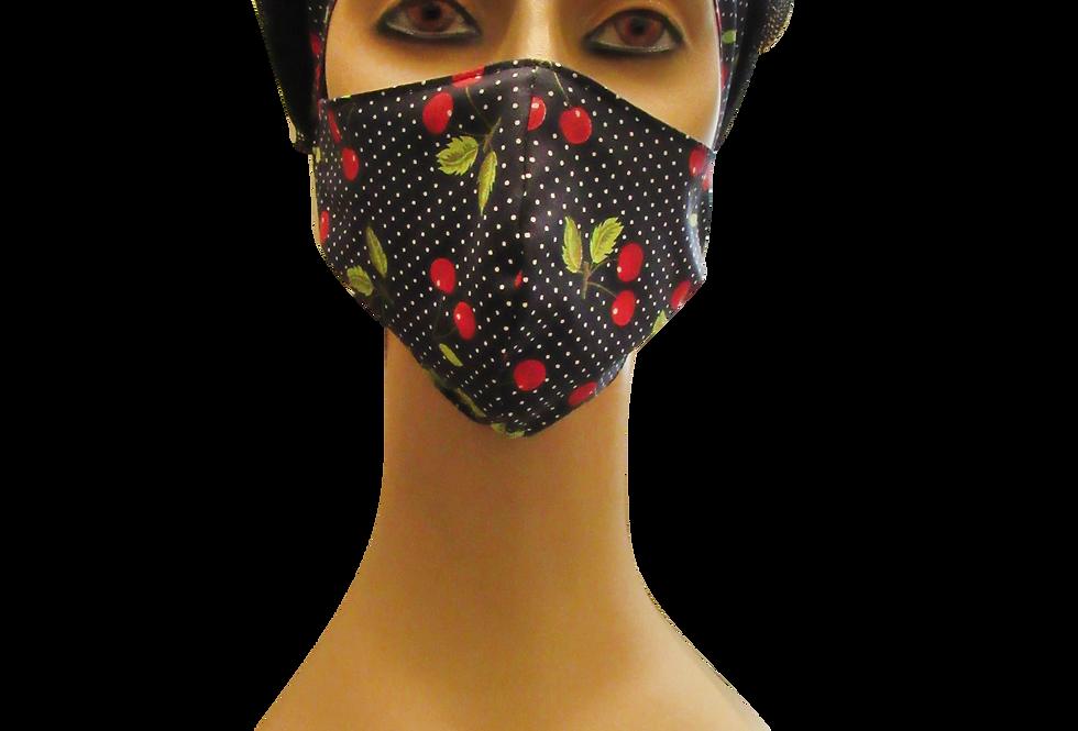 Kit Máscara + Boina Cerejinhas