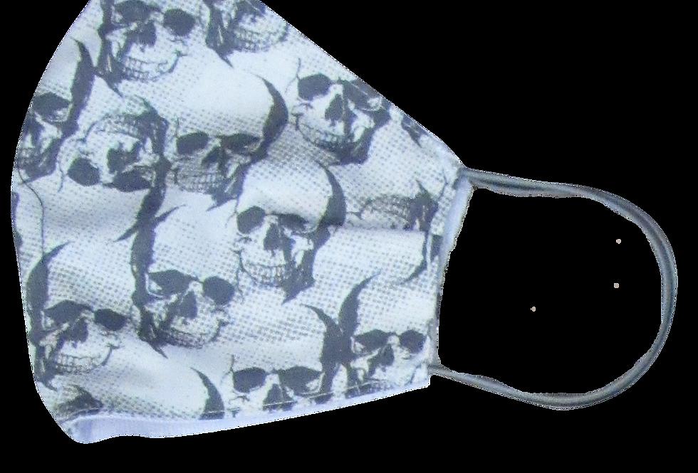 Máscara Caveira Cinza