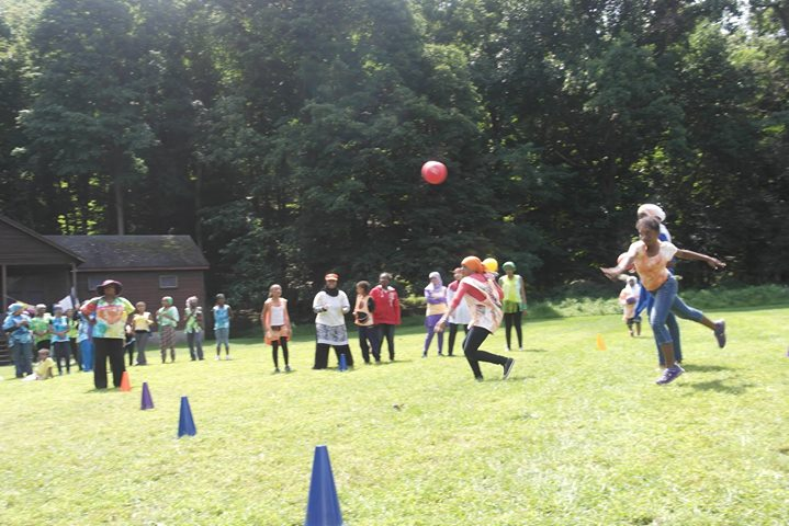 "Dodgeball ""Colored War"" games."