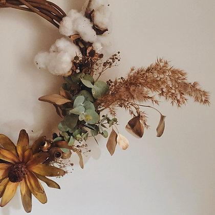 Dried Floral Wreath 70cm