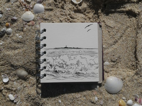 Sketch #37 - Rottnest Island from Scarborough Beach - our last day.