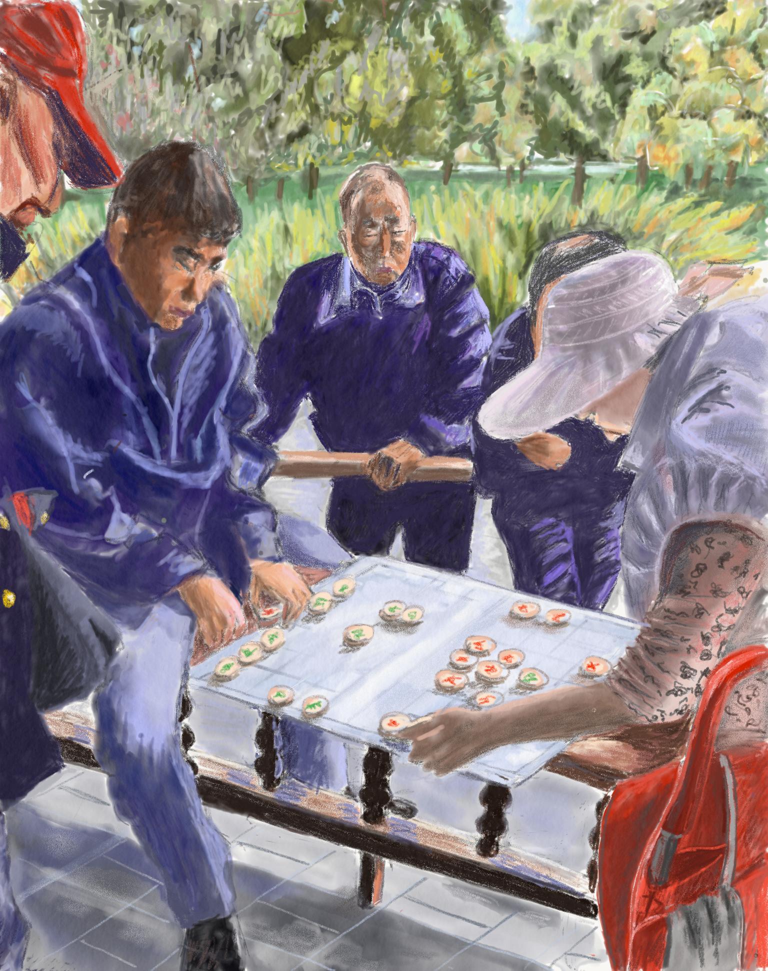 Joueurs d'échecs à Pékin
