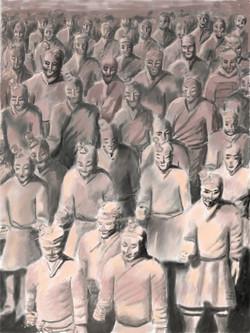 L'Armėe-de-terre-cuite-du-Mausolėe-de-Qinshihang