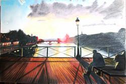 10 h du soir sur le Pont des Arts