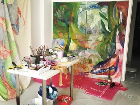 Visita ao atelier da artista Thalita Hamaoui