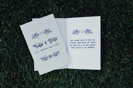 Wedding Program / Zine