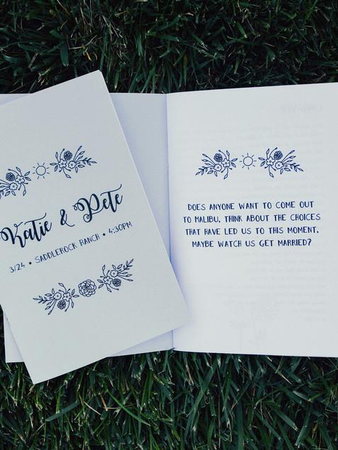 Wedding 'Zine Program