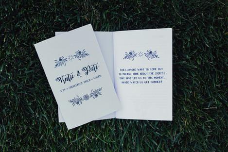 Wedding Program / Zine