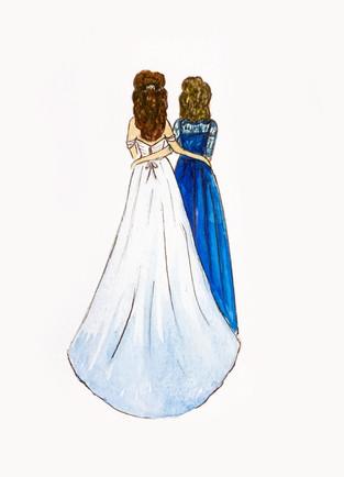 Watercolor Bride + MOB Portrait