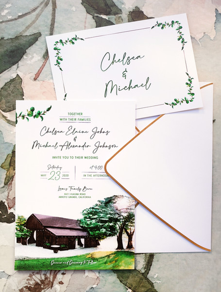 Invitation + RSVP Card