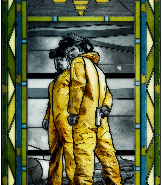 BREAKING BAD STAINED GLASS ART