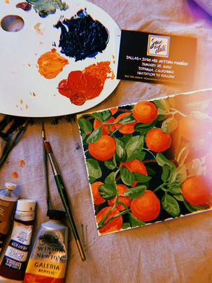 Save the Date & Invitation Liner Painting