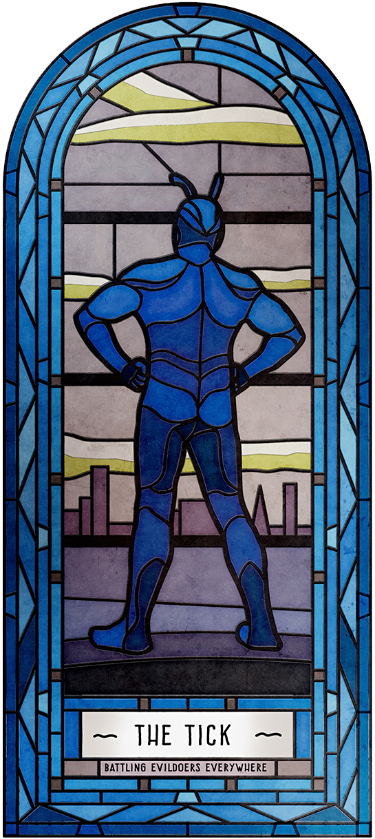 The Tick Stained Glass Art