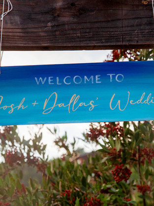 Hand-painted Welcome Sign
