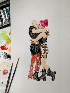 Watercolor Couple Portrait