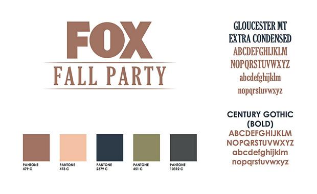 FOX FALL PARTY 2017 BRANDING