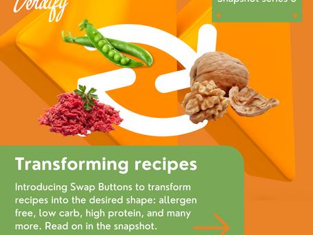 Transforming recipes into any shape