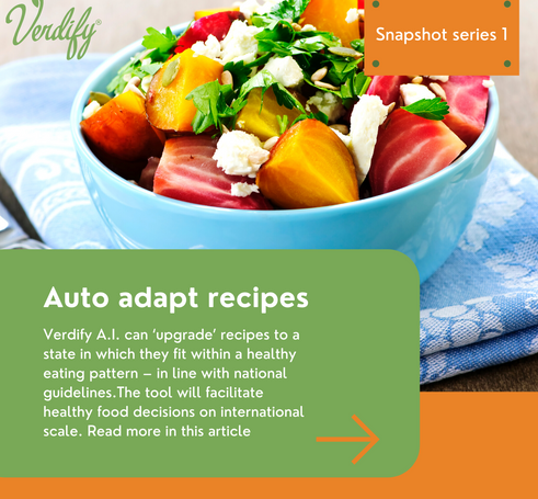 Auto adapt digital recipes to national nutrition guidelines