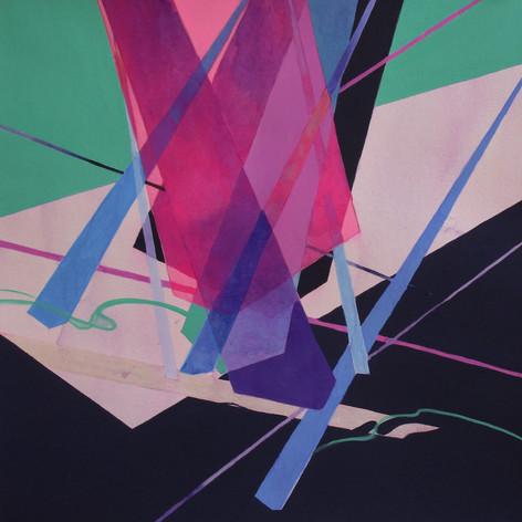 2020, Acrylic Gouache and Acrylic Ink on Paper, 9 x 12