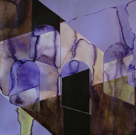 2020, Acrylic Gouache and Acrylic Ink on Paper, 16 x 20