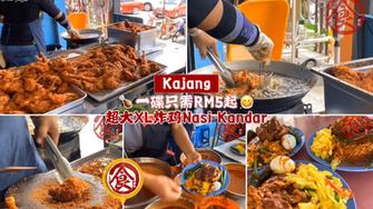 【Kajang超大XL炸鸡Nasi Kandar!🍗最便宜一碟只需RM5起而已!😍】