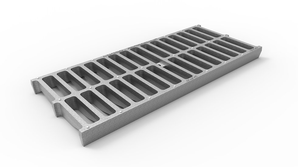 "10"" wide galvanized iron slotted trench drain grate"