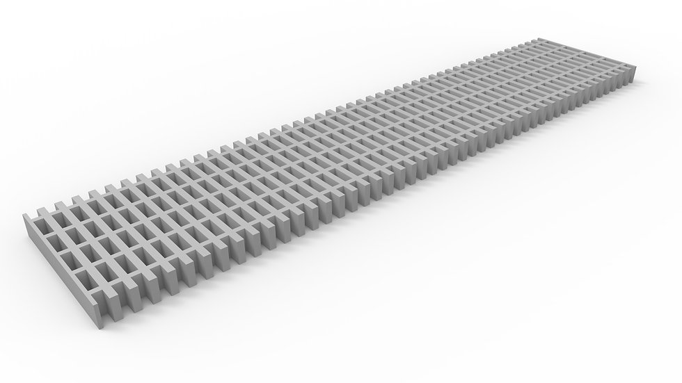 "10"" wide fiberglass trench drain grate"