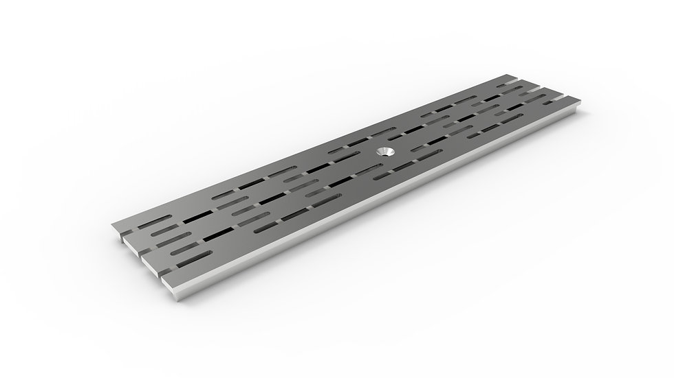 "5"" wide ADA / Heel proof longitudinally slotted stainless trench drain grate"