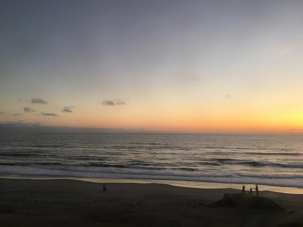 San Diego yolu üzerinde gün batımı