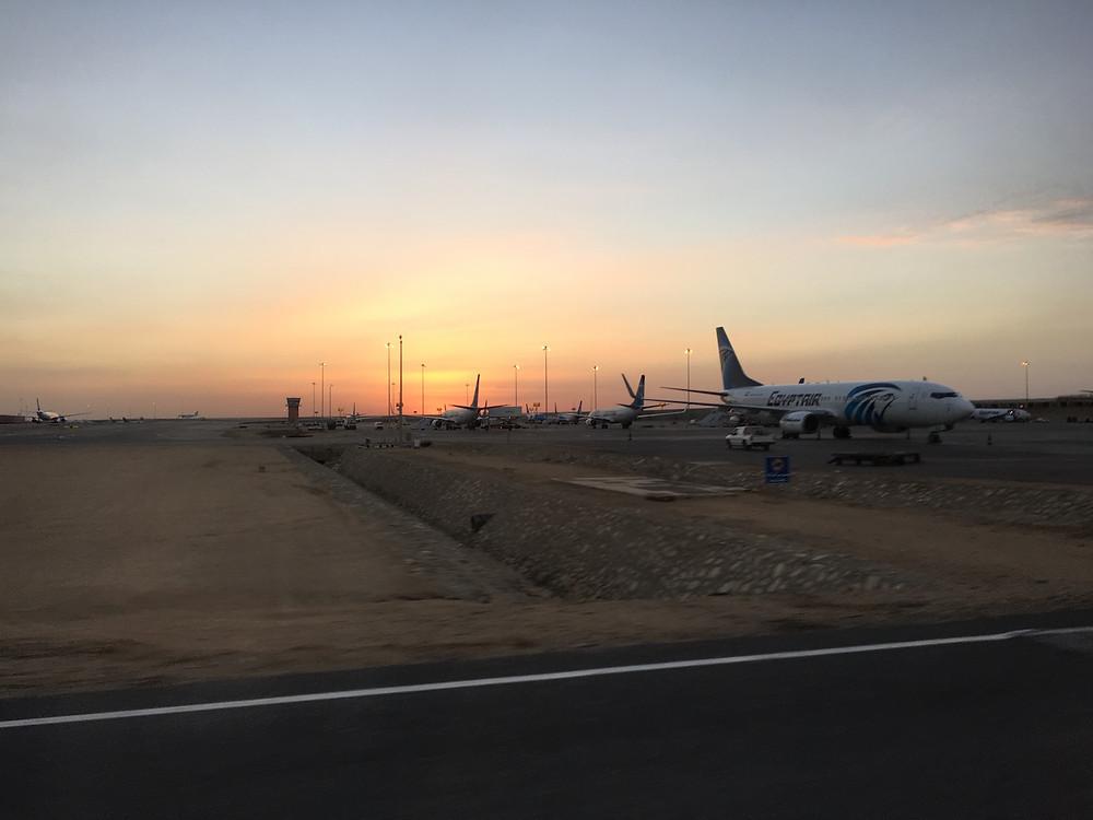 Aktarma yaptığımız kahire havalimanı