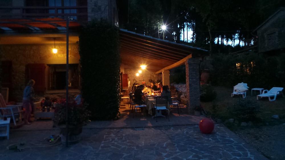 Gambassi Terme'deki evimiz ve güzel akşam yemeklerimiz
