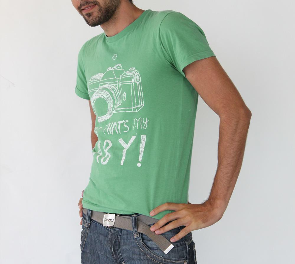 Camisa Estonada Com a Sua Estampa