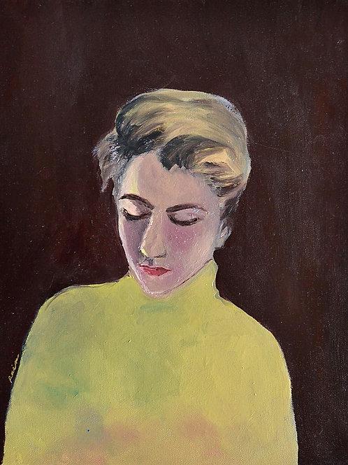 """Noélie Raix - """"Autoportrait aux yeux baissés"""""""