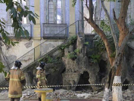 Incêndio destroi prédio histórico no Fonseca, antigo Colégio Brasil