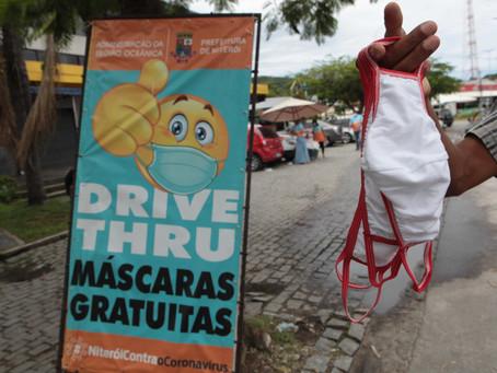 Mais de 1,5 milhão de máscaras gratuitas são distribuídas em Niterói
