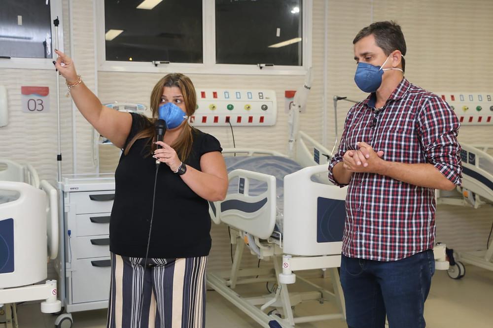 Simone Costa e Fabiano Horta detalharam funcionamento/Foto: Divulgação