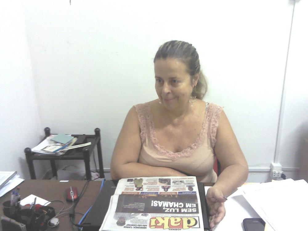 Rosângela, presidente do Sindspef