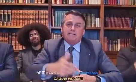Em live, Bozo se esquiva de investigação com um 'caguei pra CPI'