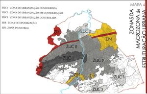 Divisão de macrozonas proposta no Plano Diretor de São Gonçalo/Divulgação