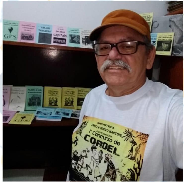 Zé Salvador é fera na literatura de cordel/Foto: Divulgação