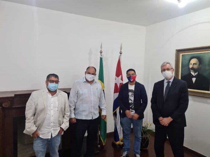 Representantes de Maricá se reuniram com embaixador cubano em Brasília/Foto: Divulgação