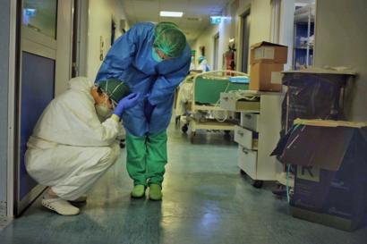Foto de Paolo Miranda, enfermeiro italiano